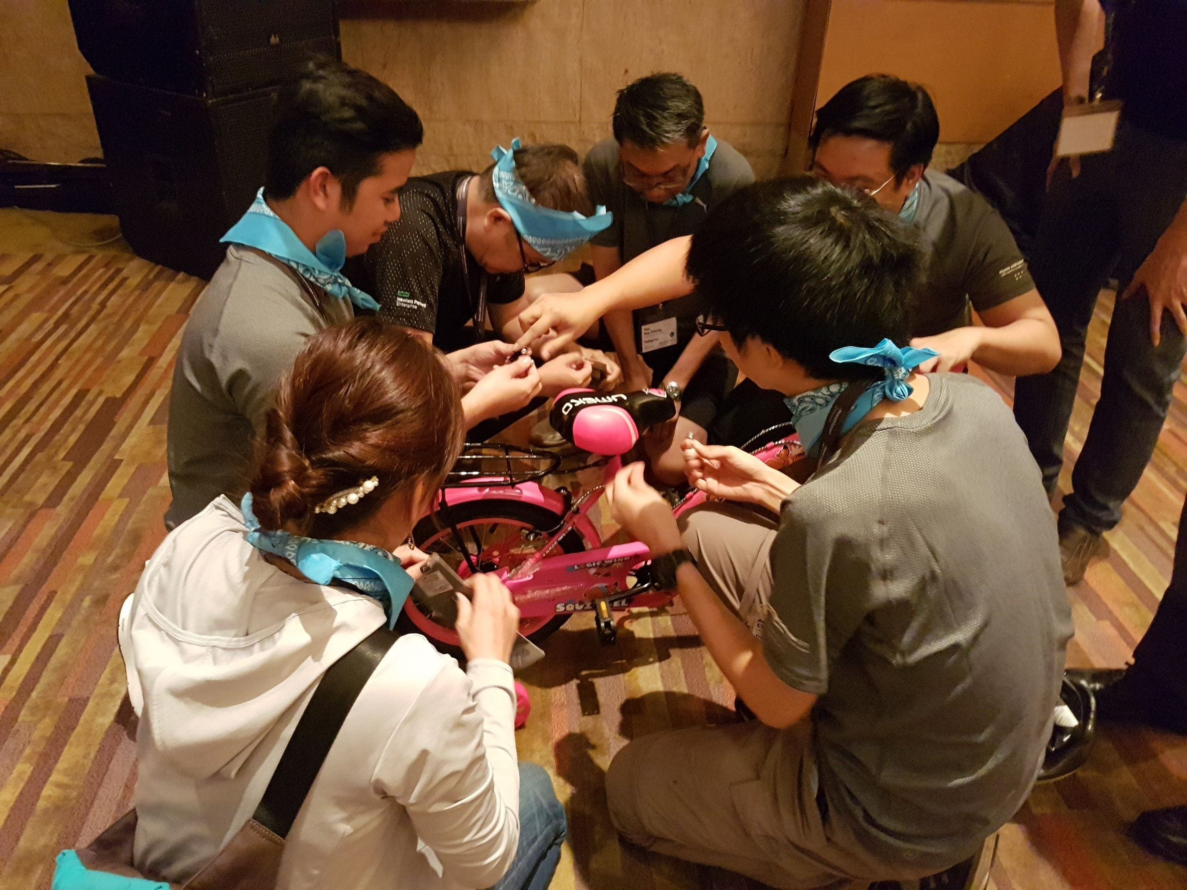 Charity Bicycle Build Team Building Bangkok